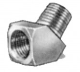 Fittings - brass street 45 degree elbow for pressure washer