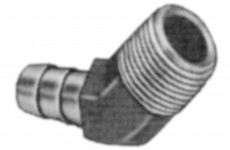Fittings - brass 45 degree barb for pressure washer