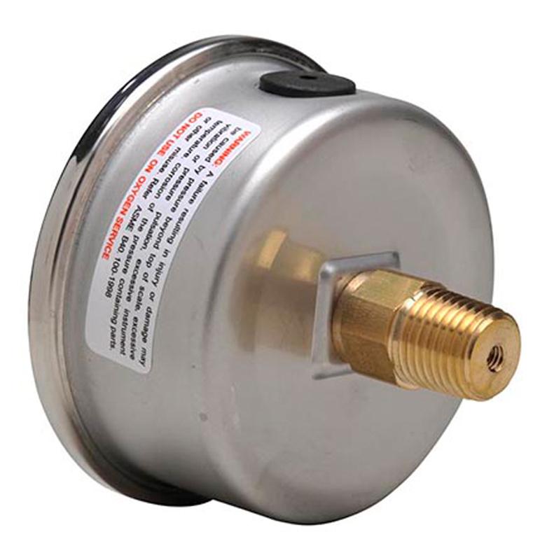 back mount pressure gauge
