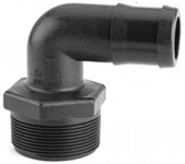 90 degree reducing poly hose barb for pressure washer