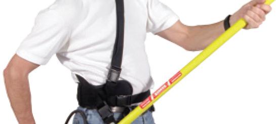 support belt for telescoping wand