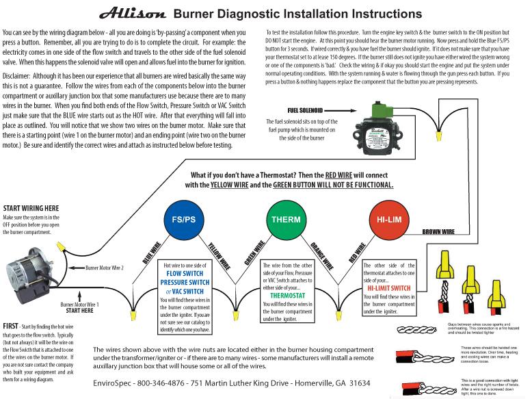 burner wiring diagram 183 envirospec