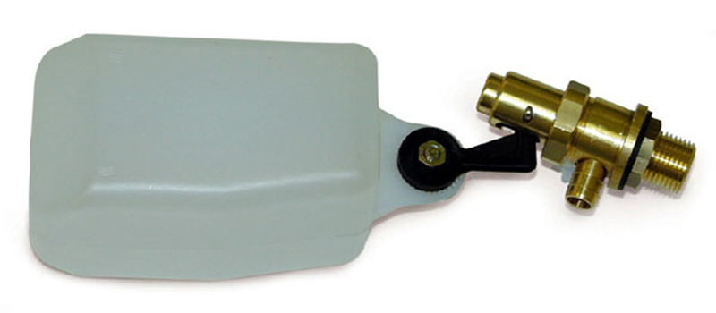 Brass float valve for pressure washer float tanks