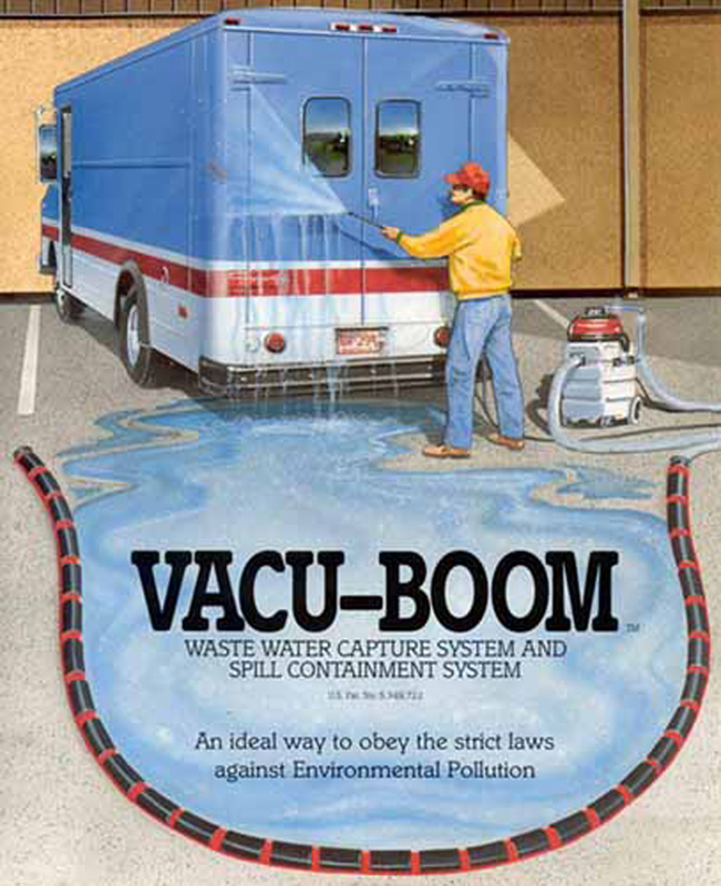 Vacu-Boom Waste Water Truck