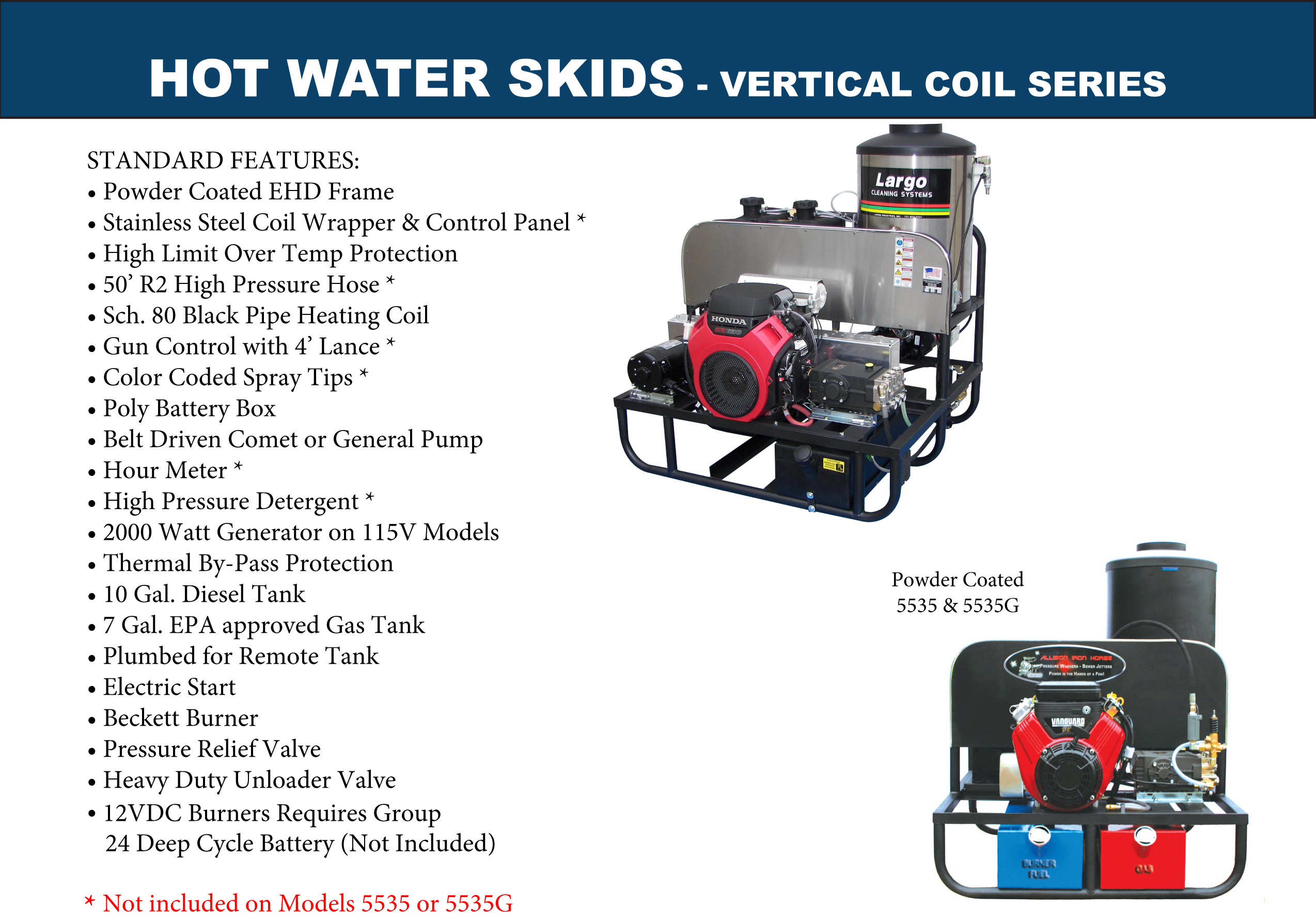 Vertical Hot Water Pressure Washer Skids
